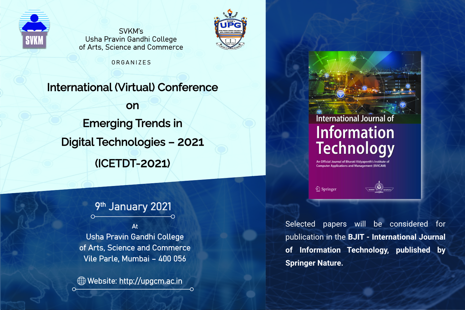 International Conference (ICETDT-2021)