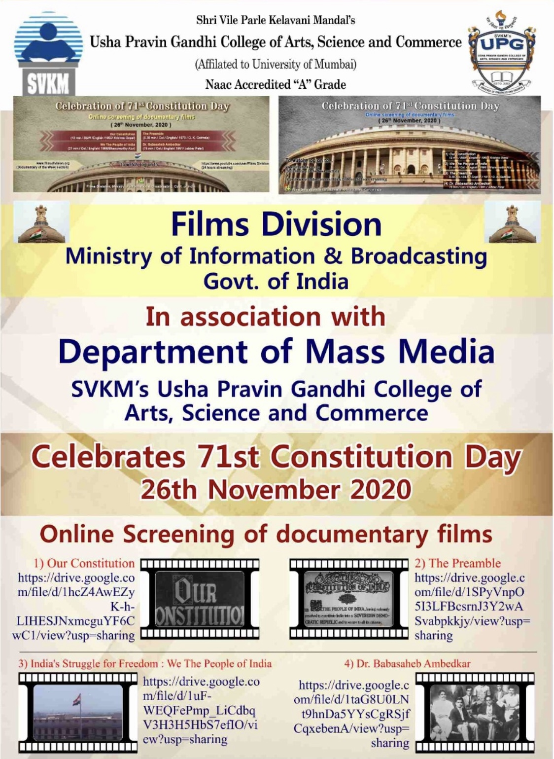 Celebrates 71st Constitution Day